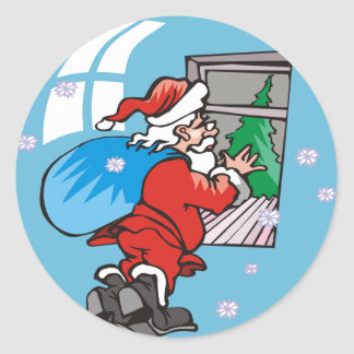 La estación del navidad diseña a los pegatinas pegatina redonda