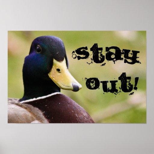 La estancia hacia fuera Duck el poster
