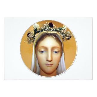 La estatua bendecida del Virgen María (pueda Invitación 12,7 X 17,8 Cm