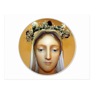 La estatua bendecida del Virgen María (pueda Postal