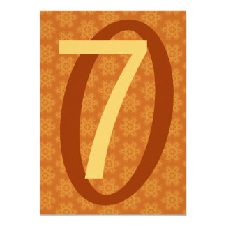 La estrella anaranjada brillante de la fiesta de invitación 12,7 x 17,8 cm