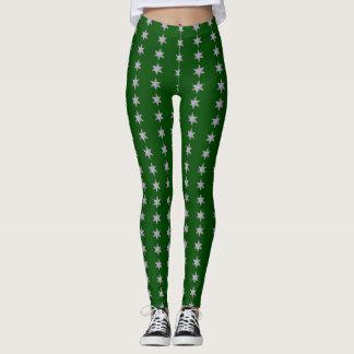La estrella barra verde oscuro leggings