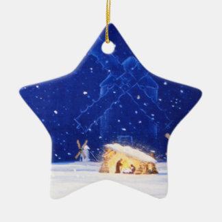 La estrella de Belén y del DON QUIJOTE Adorno Navideño De Cerámica En Forma De Estrella