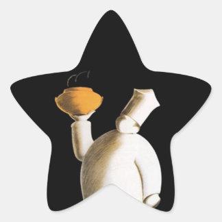 La estrella de los pegatinas protagoniza pegatinas forma de estrella