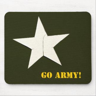 ¡la estrella del ejército, va ejército! alfombrilla de ratón