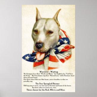 La estrella del vintage Spangled el poster del per Póster