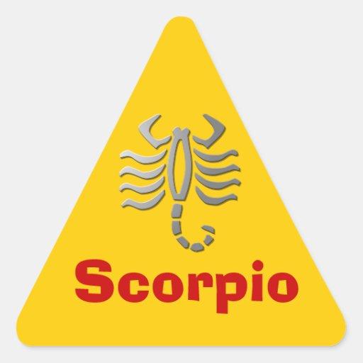 La estrella del zodiaco del escorpión firma pegatinas de triangulo personalizadas