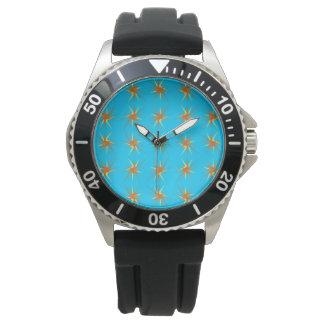 La estrella estalla el modelo en crema y beige, reloj