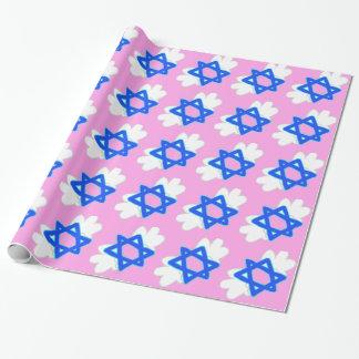 La estrella judía con Mitzvah se va volando, papel
