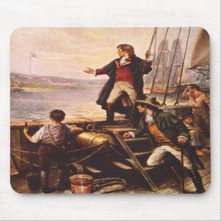 La estrella Spangled la bandera de Percy Moran Tapete De Ratones