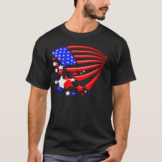 La estrella Spangled la camiseta de la bandera de