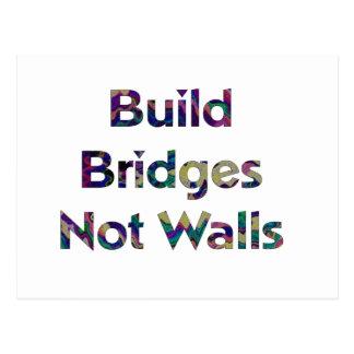 La estructura tiende un puente sobre no la postal