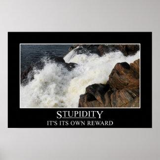 La estupidez es su propia recompensa (s) póster