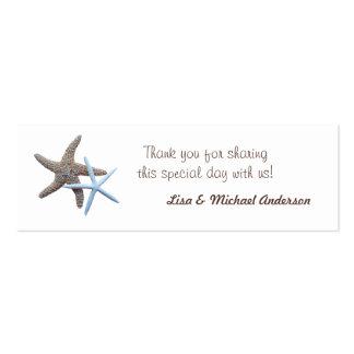 La etiqueta del favor de las estrellas de mar le tarjetas de visita