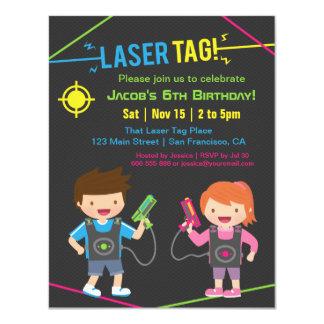 La etiqueta del laser embroma invitaciones de la invitación 10,8 x 13,9 cm
