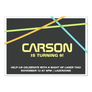 La etiqueta del laser invita invitación 12,7 x 17,8 cm