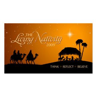 La etiqueta viva del regalo de la natividad tarjetas de visita