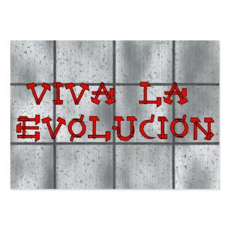 La Evolucion de Viva Plantilla De Tarjeta De Negocio