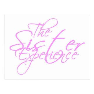 La experiencia de la hermana tarjeta postal