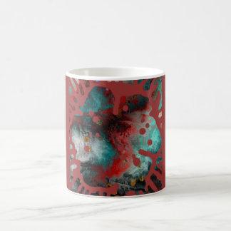 La explosión de la flor de la pintura taza de café