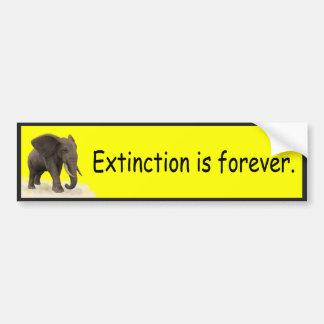La extinción es para siempre - pegatina para el