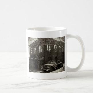La fábrica vieja taza de café