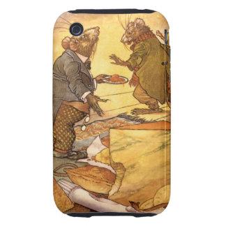 La fábula de Esopo del vintage, ratón del país, Tough iPhone 3 Cárcasa