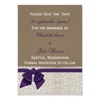La FALSA arpillera y el cordón con púrpura ahorran Comunicados