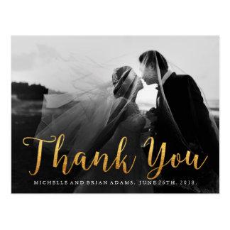 La falsa foto del boda del oro le agradece cardar postal