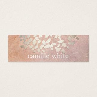 La falsa hoja de oro de la cosmetología elegante tarjeta de visita pequeña