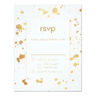 La falsa pintura moderna del oro cae RSVP que se Invitación 10,8 X 13,9 Cm