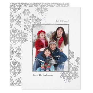 ¡La falsa plata lo dejó nevar! Tarjeta de Navidad
