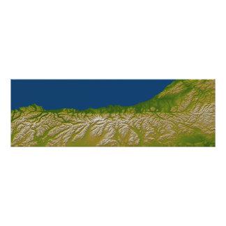 La falta alpina a lo largo de la costa oeste impresion fotografica
