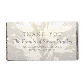 La familia elegante le agradece etiqueta de etiqueta de envío