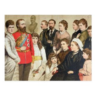 La familia real, 1880 postal