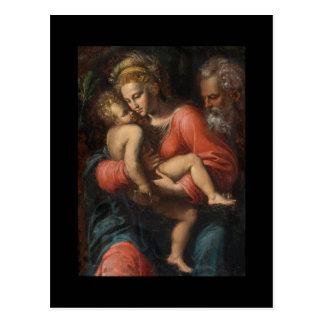 La familia santa por los carpos de Girolamo DA Postal