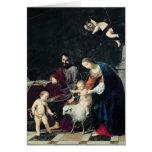 La familia santa tarjeton