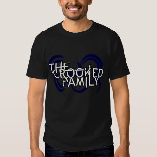 La familia torcida (negro) camisetas