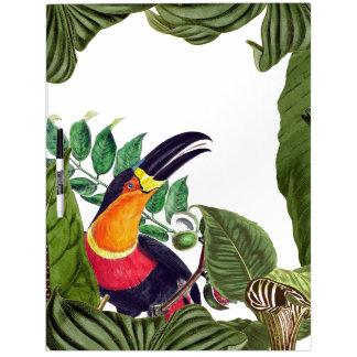 La fauna del pájaro de Toucan sale del tablero
