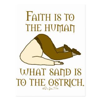 La fe es arena postal