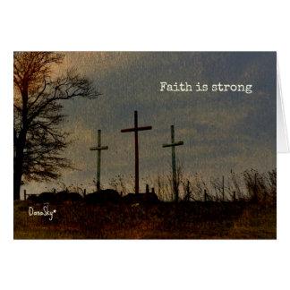 """La """"fe es la tarjeta inspirada cruzada"""" tres"""