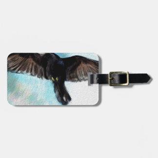 La fe es un cuervo etiqueta para maletas