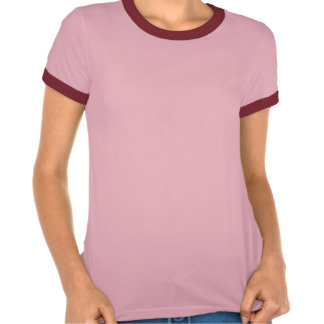 La fe, esperanza, ama la camiseta rosada/roja #1