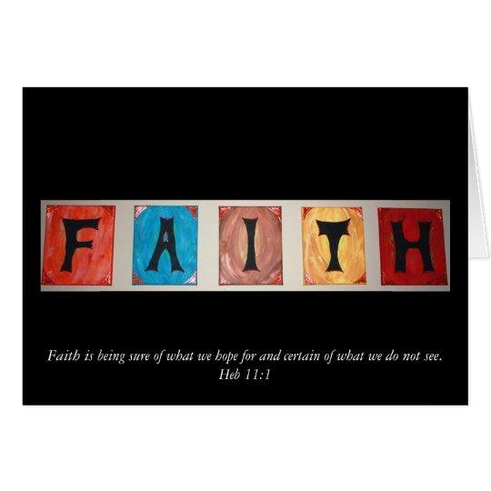 La FE, fe está estando segura de lo que esperamos… Tarjeta De Felicitación