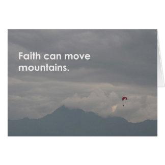 La fe puede… tarjeta de felicitación