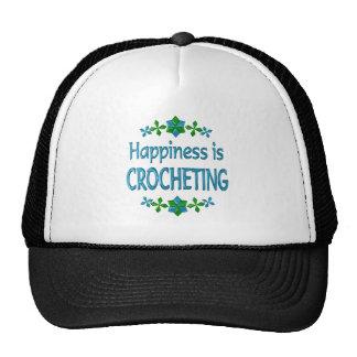 La felicidad Crocheting Gorro De Camionero
