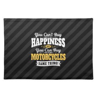 La felicidad de la compra del canto del motorista manteles