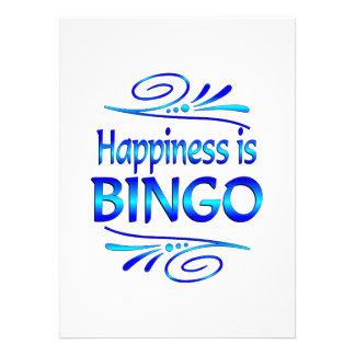 La felicidad es BINGO Invitacion Personal