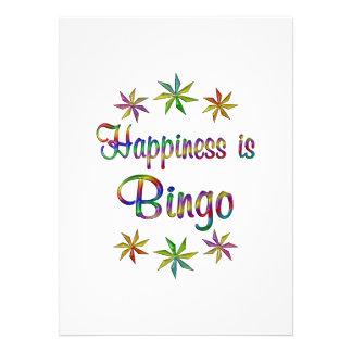 La felicidad es bingo invitacion personalizada
