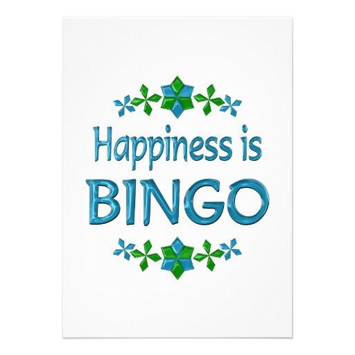 La felicidad es bingo anuncio personalizado
